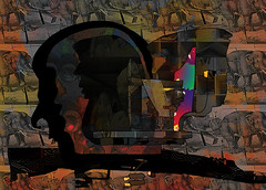 Spring in Somalia (Mar 2013) (Ian Clegg Walsh) Tags: street sculpture elephant abstract art animals silhouette illustration photoshop painting bride sketch artwork paint gun grafitti drawing originalart contemporaryart contemporary quality surrealism digitalart rifle barrel dream shapes like surreal objects pearls semi peinture digitalpainting automatic animation layers yves amusing militia naive tones figures wacom vector bizarre figurative whimsical ransom based primitive hostage mercenary ianwalsh