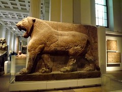 Leones, British Museum - London (Aaron Guerra) Tags: england london lion culture cuneiform britishmusseum
