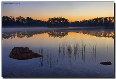 Making the Best of It (Fraggle Red) Tags: lake reflection fog sunrise landscape dawn nationalpark rocks florida grasses evergladesnationalpark campground hdr enp longpinekey 7exp canonef1635mmf28liiusm miamidadeco dphdr canoneos5dmarkiii adobelightroom41 5d3 5diii