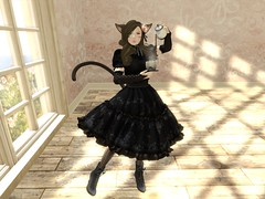 Tea Time Neko (Nami.Lithanos) Tags: cute mesh lolita secondlife neko rmk gothiclolita nekomimi lemontea desu gfield