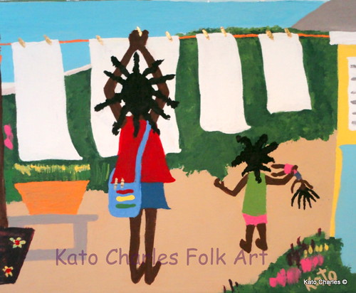 """White Sails Ahead""; Acrylic on canvas, 8"" x 10"" by Kato Charles.  FOR SALE."