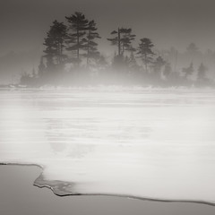 Spring Thaw Ice Fog Maine (Nate Parker Photography) Tags: winter ice fog maine mountdesertisland acadianationalpark haveaniceday mainephotography mainefog nateparkerphotography