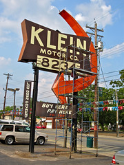 Klein Motor Co., Cincinnati, OH (Robby Virus) Tags: street ohio cars sign klein cincinnati vine used company motor arrow autos automobiles dealer 8234