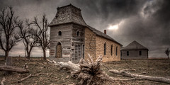Abandoned Church and Schoolhouse