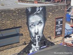 Ssshhh I`m In Heaven, David Bowie (Lorraine & Brian) Tags: david art station work bowie heaven im railway junction clapham ssshhh