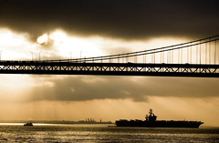 Abracadabra (Thomas Hawk) Tags: baybridge california sanfrancisco usa unitedstates unitedstatesofamerica bridge silhouette sunrise water fav10 fav25 fav50