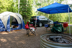 Campsite 174 @ Fort Wilkins (joeldinda) Tags: vacation tree up nikon jeep michigan july tent cherokee shadowplay canopy campground upperpeninsula lightandshadow v2 campsite picnictable coppercountry keweenaw 2016 firecircle 3174 1v2 fortwilkinsstatepark nikon1v2