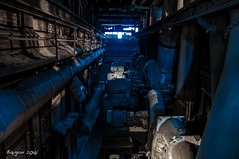 Call of the blue light (ericbaygon) Tags: factory plant usine vlklingen germany d300s nikon nikonpassion blue bleu allemagne decay