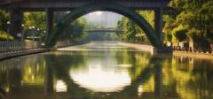 Hazy Summer Days (flashfix) Tags: august112016 2016 2016inphotos nikond7000 nikon ottawa ontario canada 55mm300mm outdoors canal rideaucanal nature water mothernature bridge haze downtown reflection