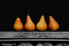 Pairs of Pears (Trevdog67) Tags: pairs pears pear pair fence fruit produce moncton newbrunswick nouveaubrunswick canada art nikon d7100 composition layers nikkor 18300mm four