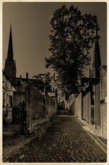Hill Top Coventry from Priory Place (IAN GARDNER PHOTOGRAPHY) Tags: sepia cobbles cobblestones autofocus wow