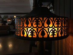 Vintage lamp.  #orange #theaugustbreak16 (gina g10) Tags: orange theaugustbreak16
