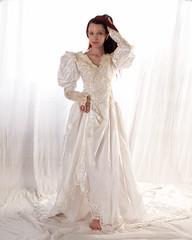 Kajira beautifully adorned. (Embodyment) Tags: female model modelmayhem dress studio kajira kajirabound striptease weddingdress