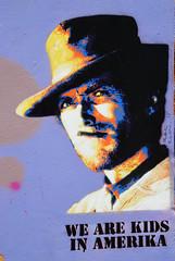 Clint Eastwood (HBA_JIJO) Tags: streetart urban graffiti pochoir stencil paris art france hbajijo wall mur portrait celebrity clinteastwood matelbe cigare cowboy