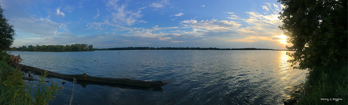 The Rock River & The Setting Sun .     001