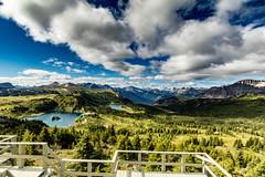 Down the valley (poormommy) Tags: mountains lake lakes mountainlake rockislelake banffnationalpark valley sunshinemeadow