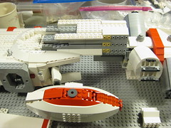 SHIPtember 2016 WIP - 22b (DJ Quest) Tags: lego shiptember 2016 space ship spaceship moc wip front section connection