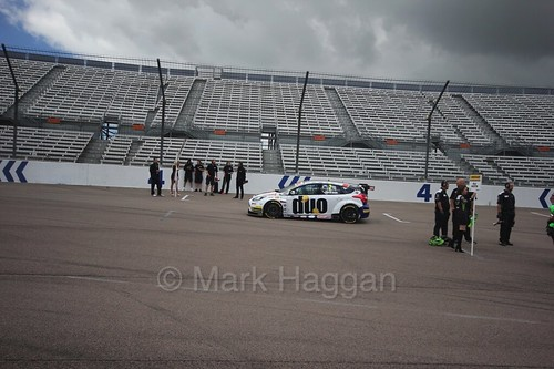 Mat Jackson on the grid at Rockingham, August 2016