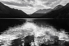 Dissolve (zh3nya) Tags: stehekin northcascades washington washingtonstate wa chelan lake lakechelan mcgregor mountains blackandwhite silver chrome water ripple sunset goldenhour forest trees clouds sky peaks cascademountains cascades pnw pacificnorthwest d750 sigma35mmf14 liquid vast