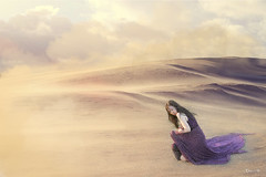 Vietnamese Viet Nam Fashion Model Fantasy Art Photography Desert Sand Storm Purple Dress (Hai Tuoi) Tags: vietnamese viet nam fashion model fantasy art photography desert sand storm purple dress ao tim nguoi mau