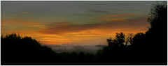A  beautiful warm sunrise (SFB579 Namaste) Tags: clouds orange sun sunshine am morning silhouete sky panoramic early