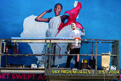 Air France (Always Hand Paint) Tags: airfrance airfranceprogress b154 ooh outdoor colossalmedia alwayshandpaint skyhighmurals advertising colossal handpaint mural muraladvertising streetlevel photorealism traveltourism colorful