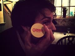 It's all about the mustard (005/365) (garrettc) Tags: friends pub mustard 365 xander mammothfilter