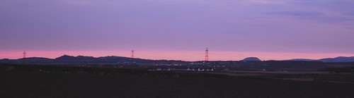 sunrise over east lothian