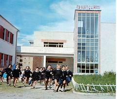 Dalje nga shkolla tetvjeare Emin Duraku. Fund vitesh 60, fillim vitesh 70. Sortie d'cole primaire, Tirana, fin annes 60.  Out of school. Tirana, end of 1960s. Salida de colegio, Tirana, fines de aos 60. (Only Tradition) Tags: al albania albanien shqiperi shqiperia albanija albanie shqipri ppsh shqipria arnavutluk hcpa    rpsh     brpsh      albnija