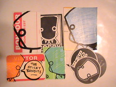 stickers from bob will reign (Mask-KLPR-) Tags: art illustration sketch sale stickers cardboard characters session piece slaps illustraition