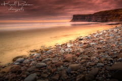 Not A Soul (Karl Ruston) Tags: sea sky cliff beach landscape yorkshire pebbles hdr saltburnbythesea