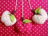 Maçãs para móbile. (Dolce Panno) Tags: frutas de decoração maçã tecido móbile pêra frutasdetecido frutasdepatchwork dolcepanno cristinaragazini