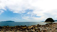 Panormica Tomie Ohtake (Roberto Amaral) Tags: ocean sky azul mar nikon sp santos pan 169 litoral ceu ilha pedras oceano panormica tomieohtake tomie ohtake fisp d7000 robertoamaral ramaral