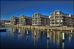 Marina at winter time. (gos1959) Tags: marina harbor reflex aalborg limfjorden nørresundby gynther mygearandme mygearandmepremium mygearandmebronze mygearandmesilver pregamesweepwinner rememberthatmomentlevel1 canonpowershotsx50hs nørresundbybrygge
