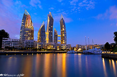 Reflections @ Keppel Bay (Dragonfly's Photos) Tags: blue building reflections bay singapore bluehour keppel