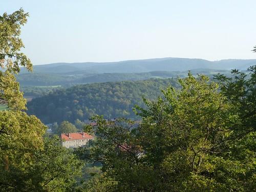 Widoki z zamku Świny