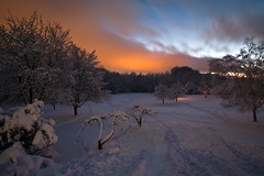 Linear Park, Penfield (-dangler) Tags: longexposure winter sky snow ny newyork cold nature water night clouds creek landscape hiking scenic rapids rochester adventure 7d nys rochesterny wny penfield irondequoit linearpark dandangler