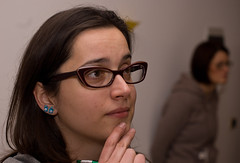 Stranger #6  Ilaria (copyonekenobi) Tags: portrait glasses dreamy earrings ritratto chin occhiali mento orecchini 100strangers sognante