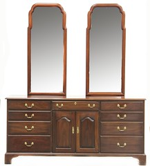 10. Henkel Harris Mahogany Double Mirrored Bureau