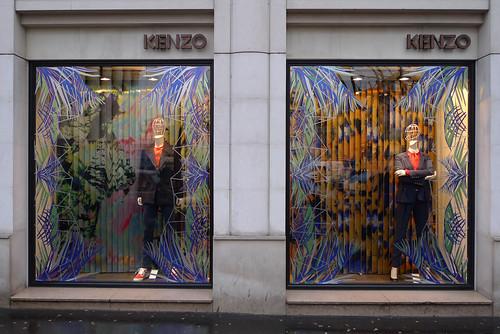 Vitrines Kenzo - Paris, février 2013