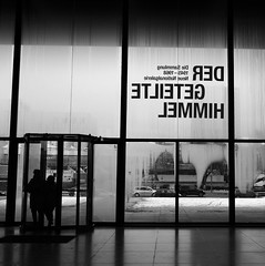 Neue Nationalgalerie Berlin (Harry -[ The Travel ]- Marmot) Tags: street city travel winter two people urban blackandwhite bw holida