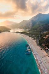 Turkish Magic (wdavis331) Tags: sunset summer ariel beautiful turkey mediterranean atmosphere stunning paragliding beautifulbeach oludeniz travelphotography jonreid tinareid httpnomadicvisioncom turkishbeach turkishattraction