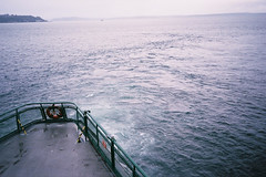 seattle9 (mcclellan_kelsey) Tags: seattle film water fog pier boat washington starbucks rainy ferriswheel spaceneedle olympusxa publicmarket