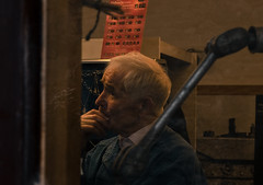 Jeweller (Leonard M.) Tags: old travel kilkenny ireland portrait man laboratory jeweler thinkng