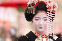 BAIKASAI FESTIVAL (Teruhide Tomori) Tags: portrait woman girl beauty festival japan lady kyoto maiko   kimono tradition   kitanotenmangu baikasai ef70200mmf28l    canoneos5dmark