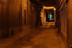 "Dark and foreboding alley (IronRodArt - Royce Bair (""Star Shooter"")) Tags: street nightphotography night dark scary dangerous alley foreboding"