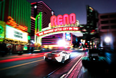 Night Life (Folk|Photography) Tags: street city urban white motion composite night photography long exposure downtown folk nevada automotive professional exotic virtual mclaren commercial rig reno gil supercar sportscar cgi worldcars mp412c