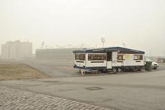 Heiligegenistfeld (St Pauli), Hamburg (J@ck!) Tags: landscape hamburg caravan carpark stpauli millerntor fcstpauli footballstadium gegengerade sanktpauli fussballstadion heiligegenistfeld