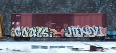 Gouls/Hindu (quiet-silence) Tags: railroad art train graffiti railcar boxcar graff sws d30 freight eec wh gtb fr8 endtoend dirty30 e2e a2m hindue gouls eec5805