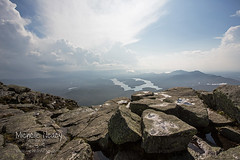 Lake Placid from Whiteface (Michelle in NY) Tags: new york sky mountain lake newyork storm nature beautiful clouds landscape rocks air fresh placid lakeplacid whitefacemountain wwwmichelleneacycom